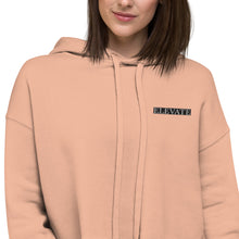 Load image into Gallery viewer, ELEVATE Pocket Logo Crop Top Hoodie