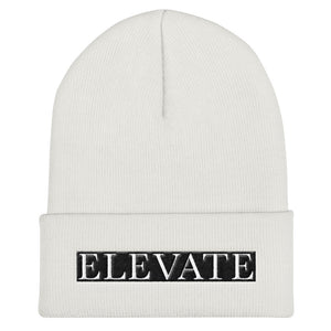 Elevate White Cuffed Beanie
