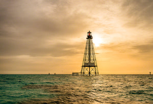 A photo of Alligator Reef Lighthouse at sunrise