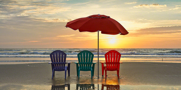 Get up early and watch the sunrise on our beautiful beach. It's a great way to start the day in New Smyrna Beach, Florida.