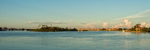 A panoramic view of Chicken Island in New Smyrna Beach, Florida