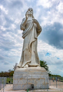 A photo of a statue of Jesus Christ overlooking the Harbor of Havana, Cuba