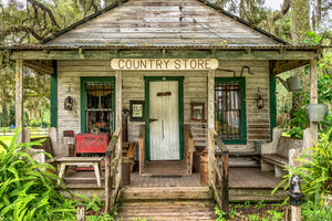 A photo of an old country store