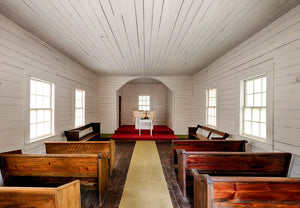A photo by Mike Ring of the Baptist Church on Cumberland Island, Georgia