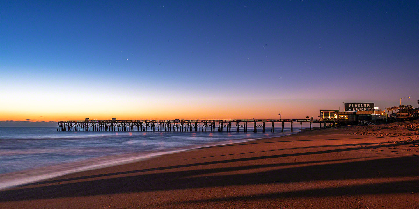 A early morning photo of the Flagler Beach Fishing Pier