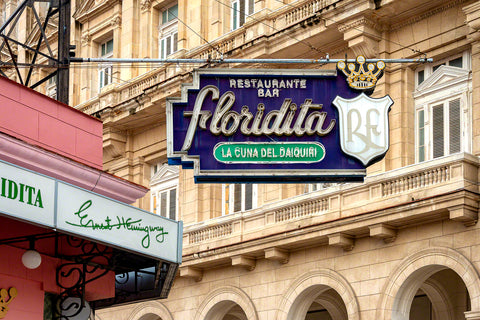 A photo of the Famous Floridita bar in Havana, Cuba