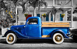 A photo of a 1935 Ford Truck in Key West, Florida
