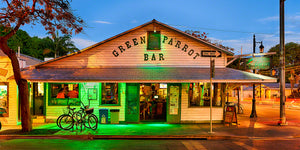 A photo of the famous Green Parrot bar, the oldest bar in Key West, Florida