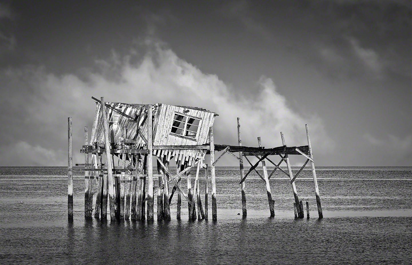 A Landscape Fine Art Photograph by Mike Ring of the old honeymoon shack in Cedar Key Florida