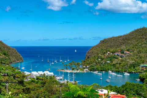 A photo of beautiful Marigot Bay in St. Lucia