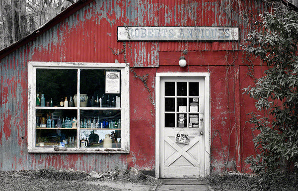 A photo of an old Antique Store.