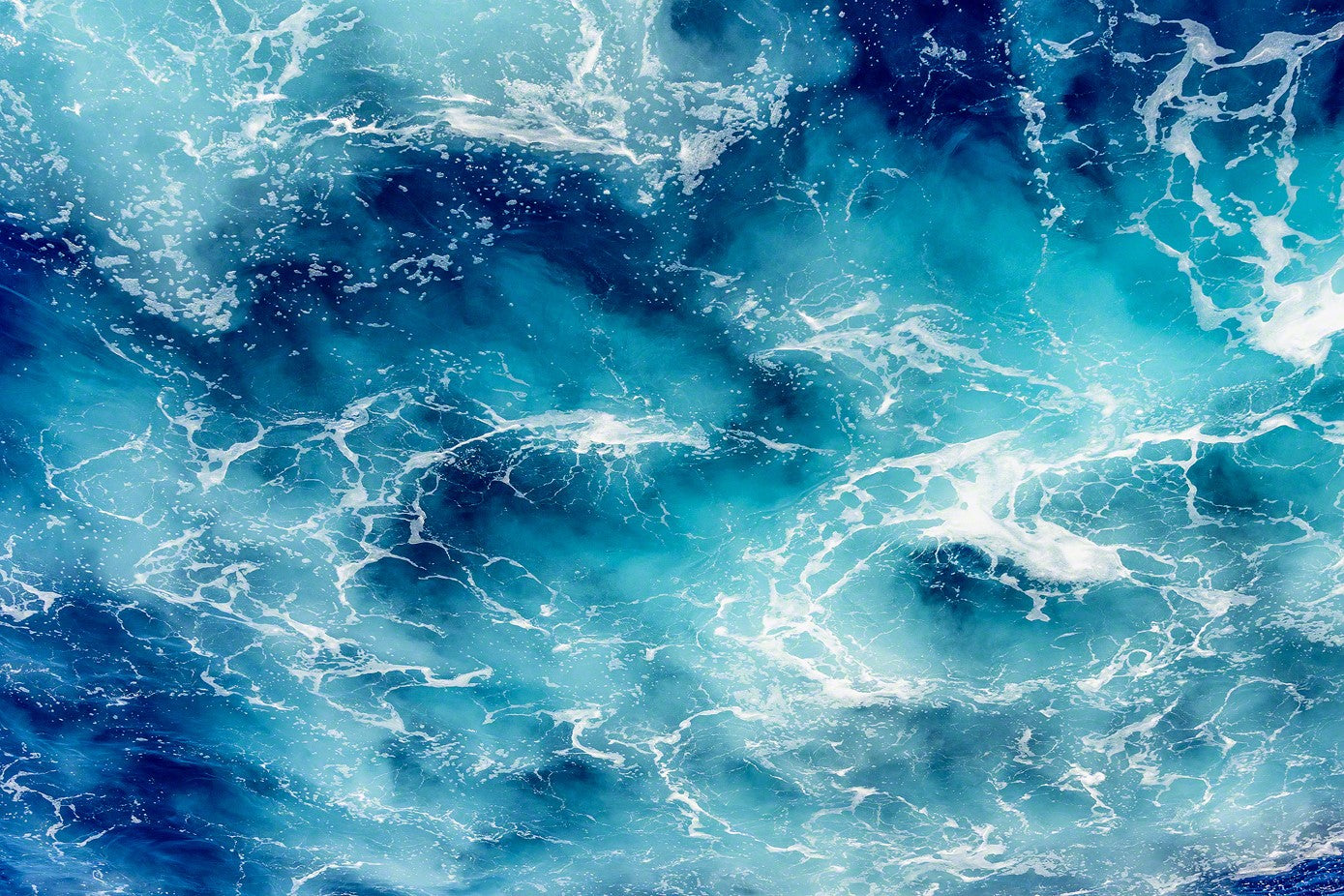 A photo of the swirling water of the Caribbean Sea
