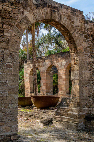 A photo by Mike Ring of Sugar Mill Ruins in New Smyrna Beach, Florida