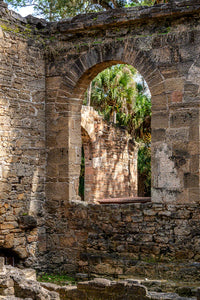 A photo by Mike Ring of Sugar Mill Ruins in New Smyrna Beach, Florida.
