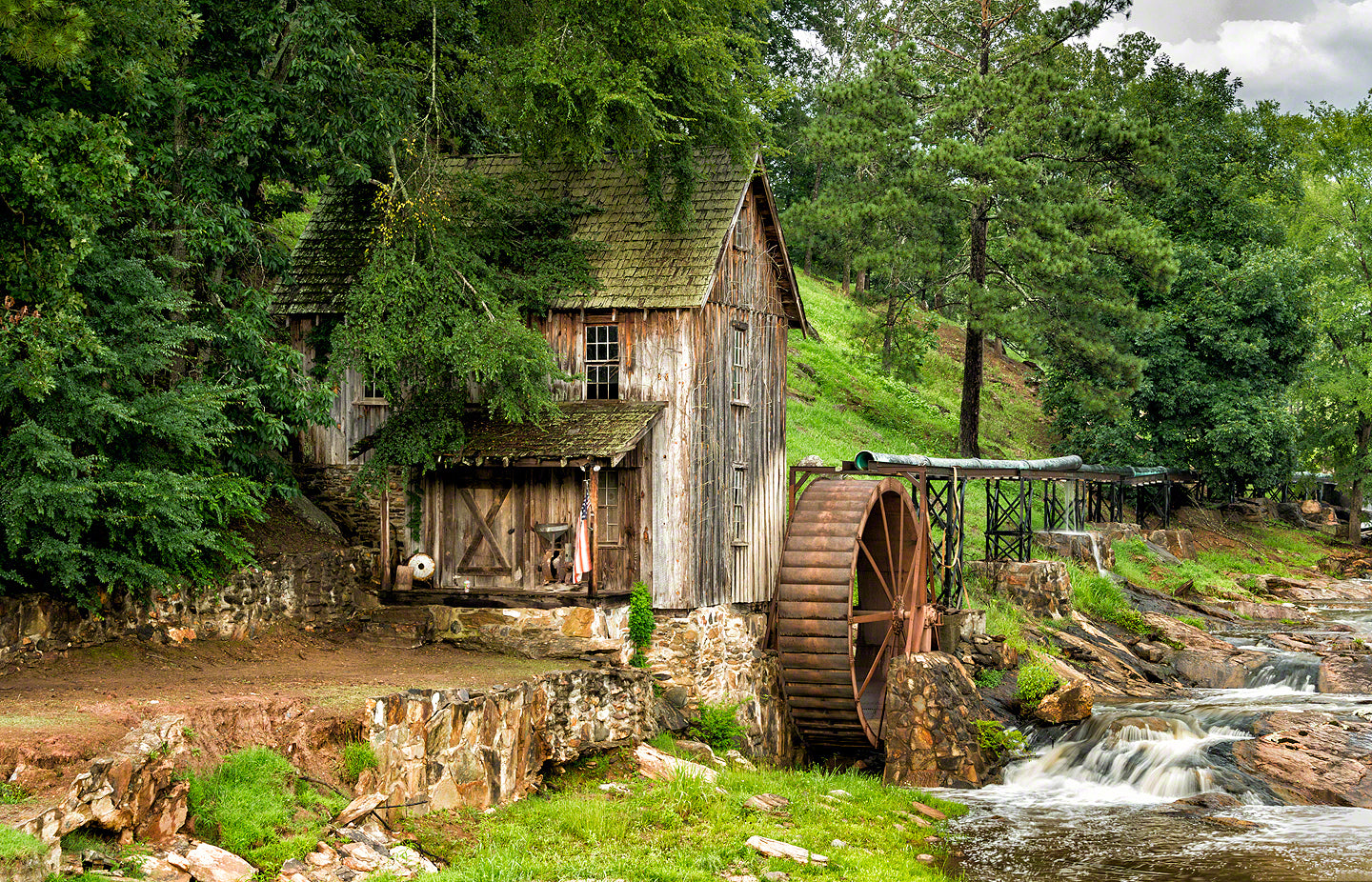 Gresham's Mill: Site of an early Cherokee settlement and later a gold mine in the early 1830′s.
