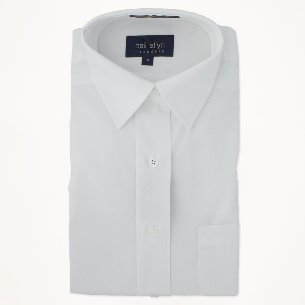 Laydown Dress Shirt - White - Woman