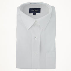 Laydown Dress Shirt - White - Woman's