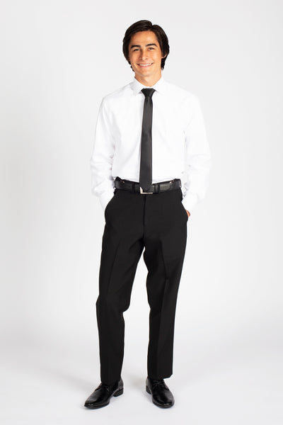 Unisex Flat Front Dress Pants- Polyester