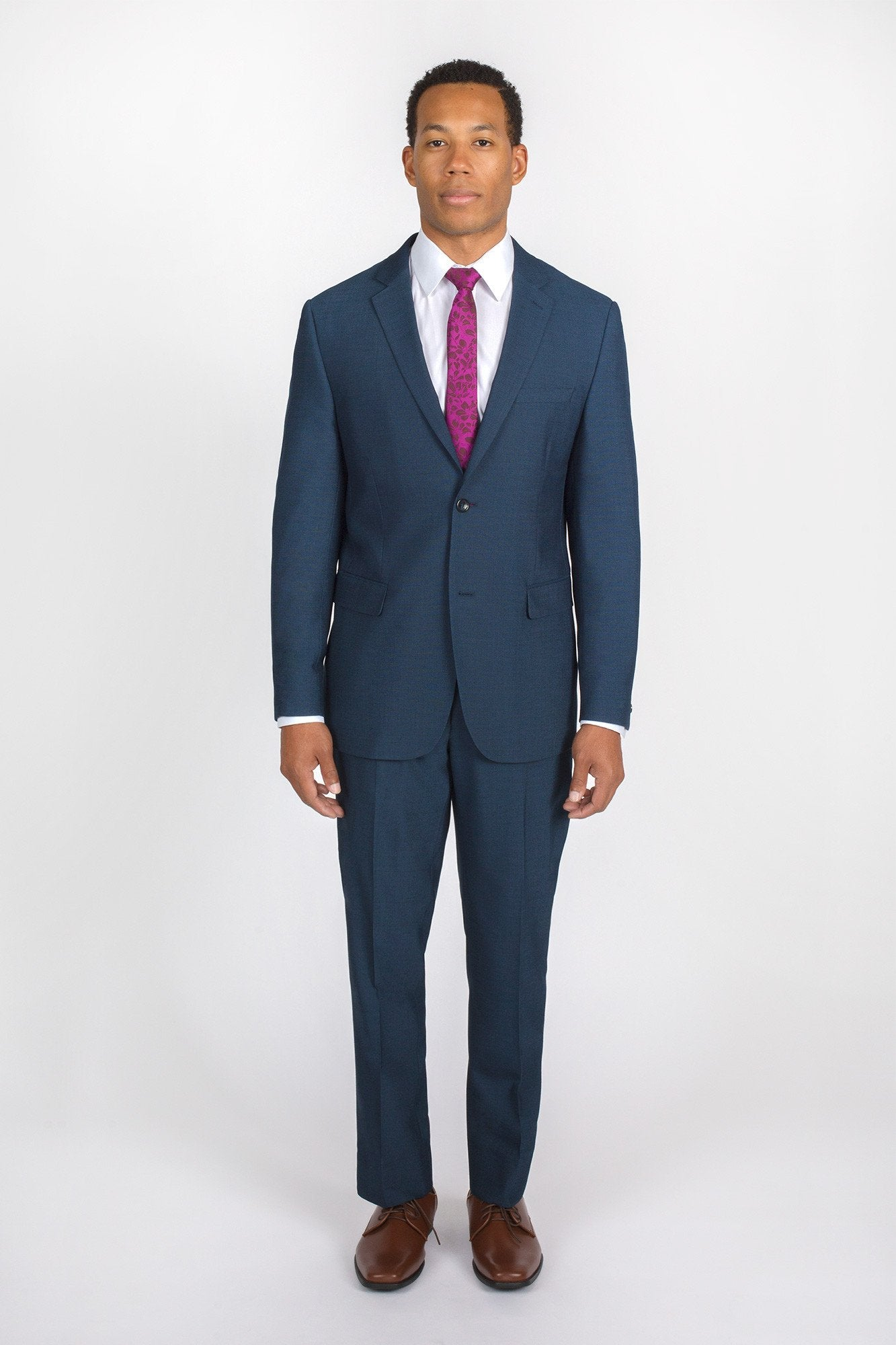 Dark Blue Modern Fit Suit