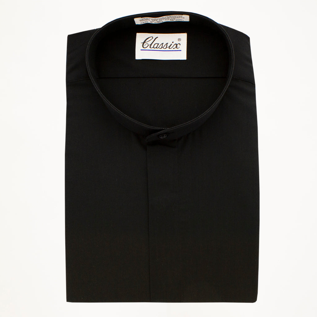 Mandarin Tux Shirt - Black
