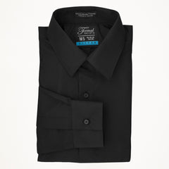 Laydown Microfiber Tux Shirt - Black - Men's