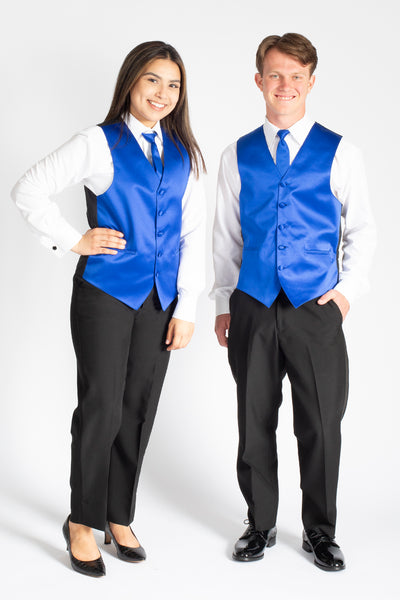 Unisex Pleated Tuxedo Pants- Polyester