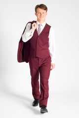 Burgundy Modern Fit Suit