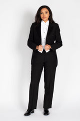 Unisex Tail Coat- Poly-blend Peak Lapel