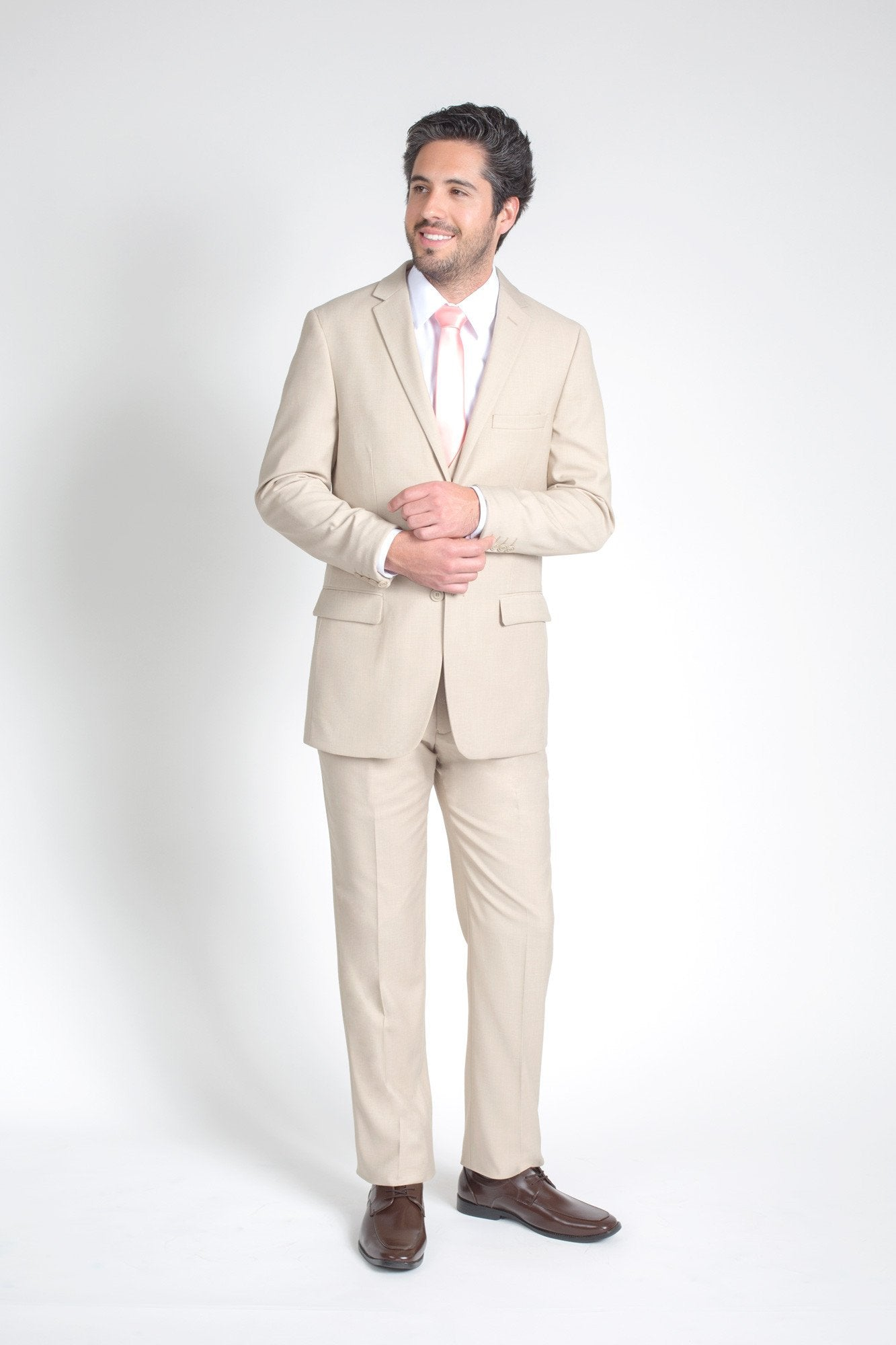 Tan/Beige Slim Fit Suit