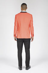 Coral Slim Fit Tuxedo with Shawl Lapel