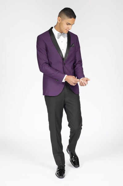 Purple Slim Fit Tuxedo with Shawl Lapel