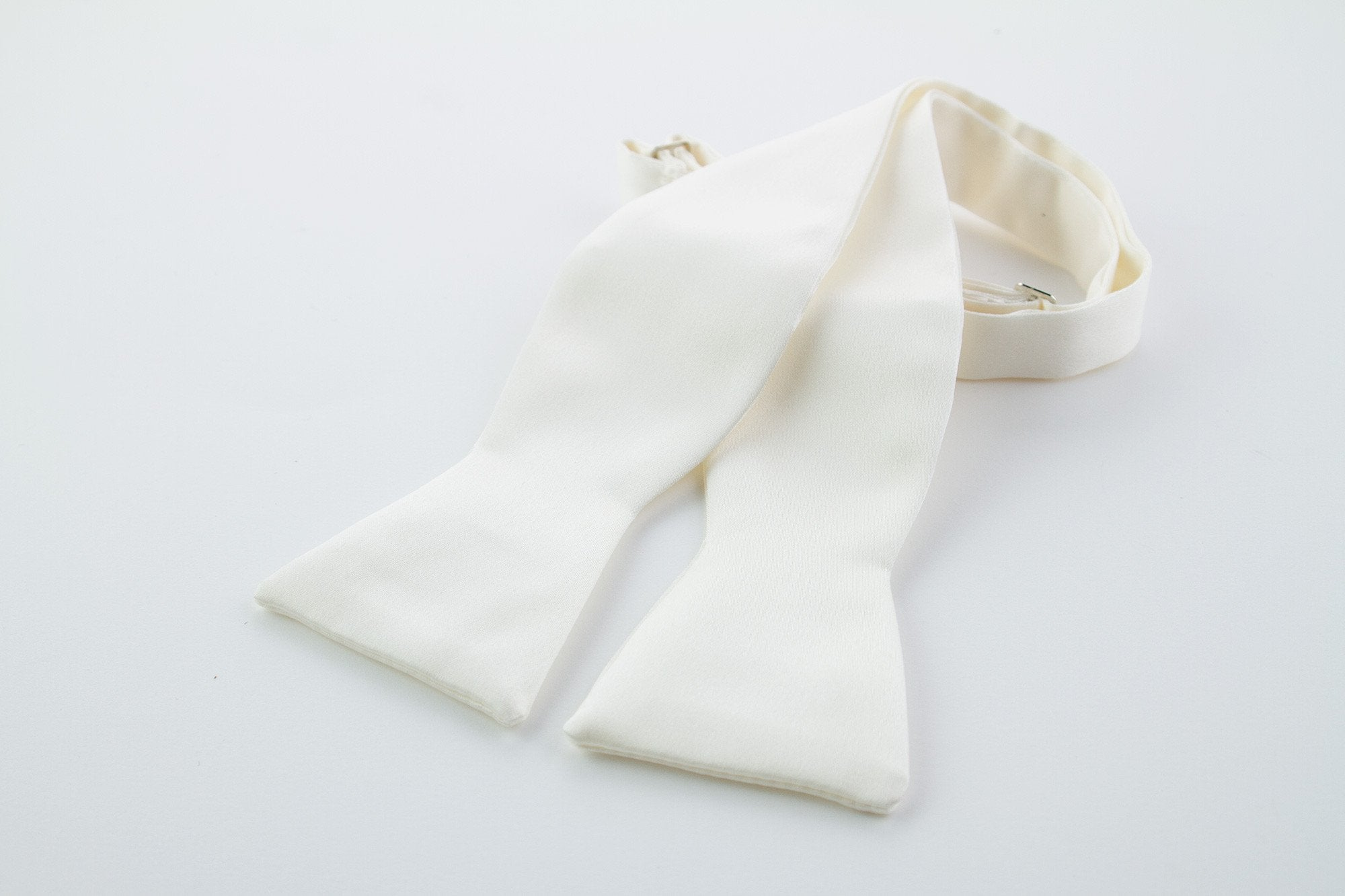 Ivory Silk Self-tie Bow