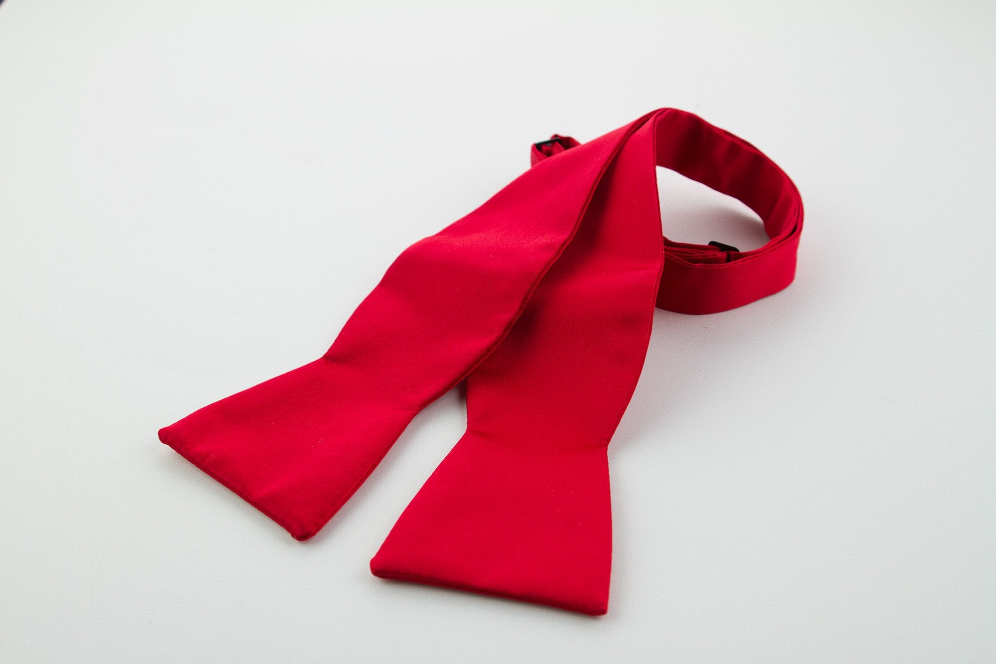 Red Silk Self-tie Bow