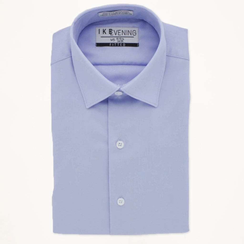 Light Blue Ike Behar Laydown Collar Shirt - Men