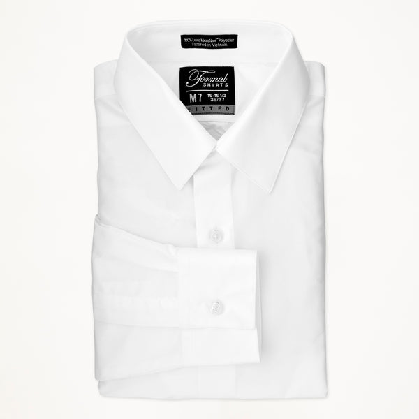 Laydown Microfiber Shirt - White - Men's