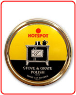 Black Stove and Grate Polish Tin