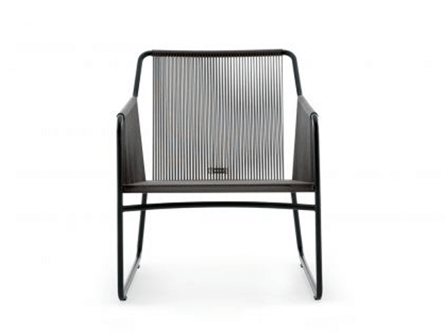 Roda Harp Lounge Chair in grey