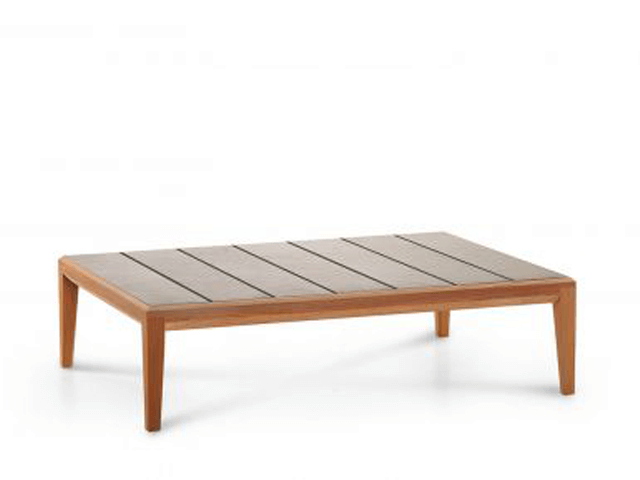 Roda Teka coffee table glazed gres top in ivory