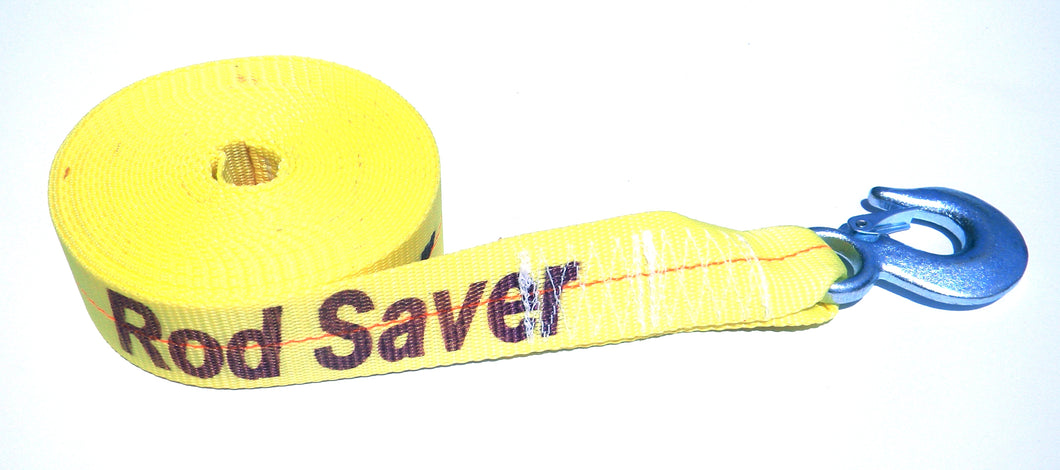 WSY30  Heavy Duty Yellow Winch Strap 2
