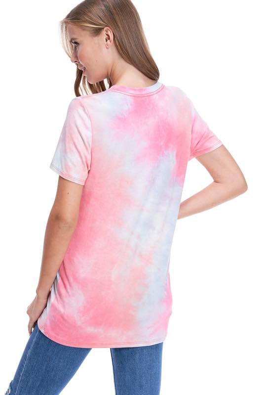 Pink Tie Dye Dreamer Graphic Top