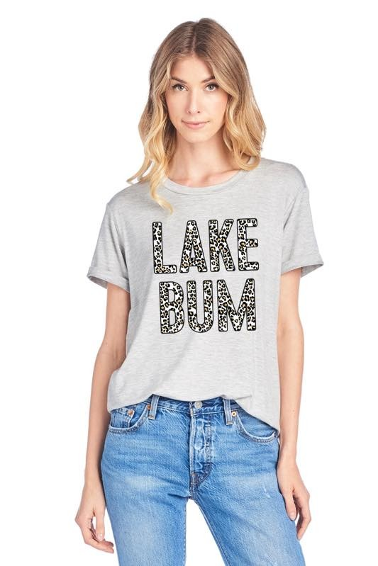 Leopard Lake Bum Graphic Top 4/9