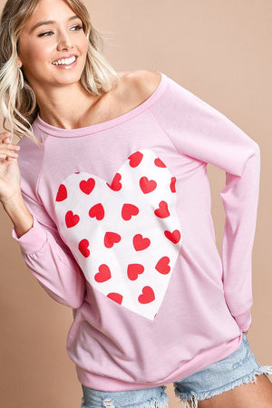French Terry Heart Top