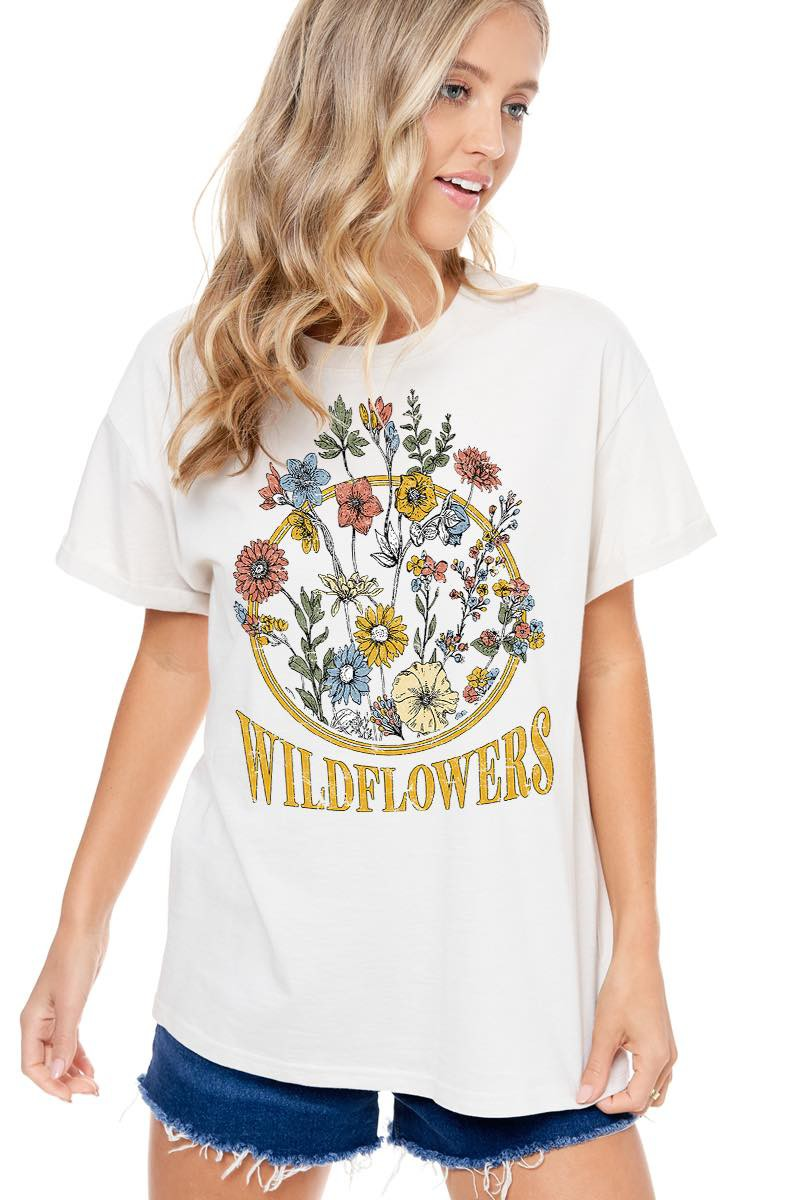 WILDFLOWERS GRAPHIC TOP