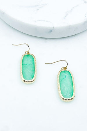 MINT NATURAL STONE EARRINGS