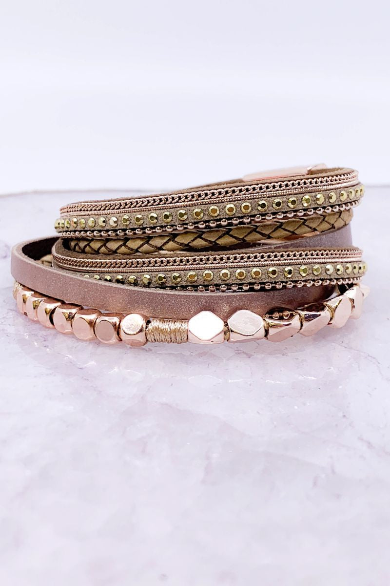 Rose Gold Magnetic Wrap Bracelet