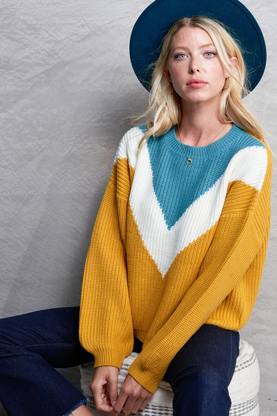 Mustard Victory Sweater