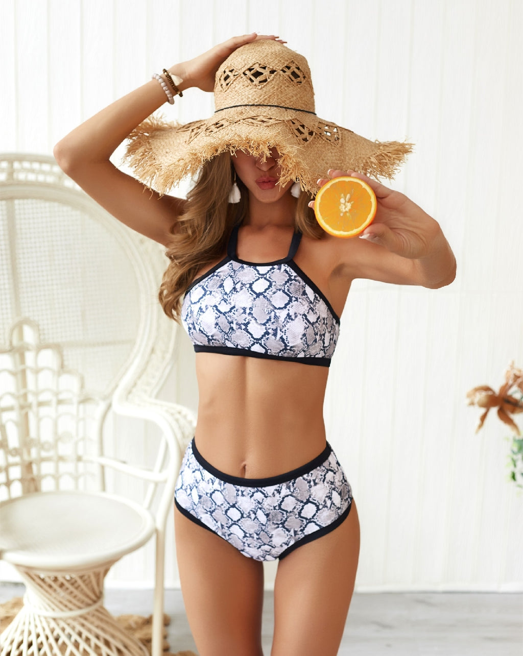 Snakeskin Two Piece Bikini (Pieces Sold Separately)