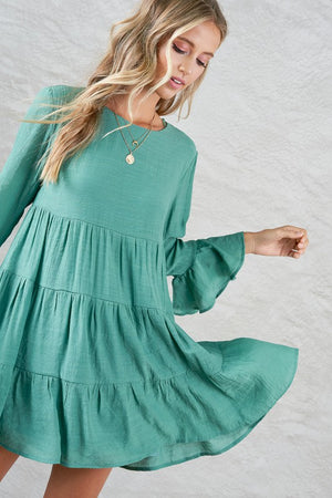 Sage Riverside Tier Dress