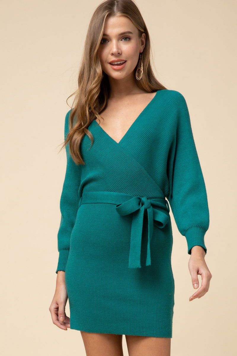 Hunter Green Sweater Dress