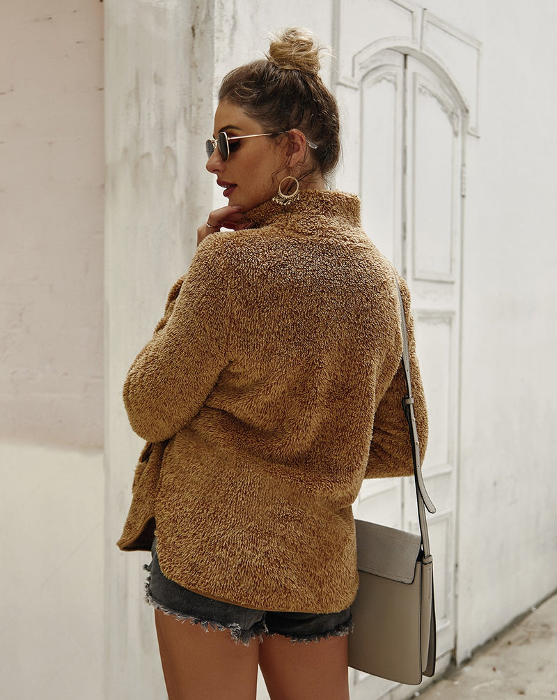 Caramel Sherpa Pullover Sweater